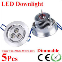 Wholesale 5X New Arrival Dimmable w w w w w w Led Fixture Ceiling Downlight V High Quality Led Down Light Pure Cool Warm White