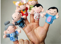 Unisex 8-11 Years Multicolor 2014 New 6pcs Finger Plush Puppet Happy Family Story Telling Dolls Support Children Baby Educational Toys