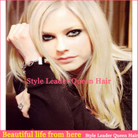 Wholesale Hotsale cheap heavy density Brazilian virgin hair bleached knots blonde full lace wigs amp lace front wigs