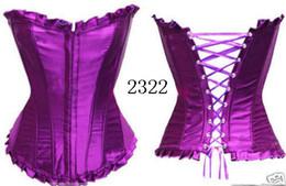 Wholesale-hot -Sexy lingerie Lace Up bustier corsetClub Wear 2322A Size S,M,L,XL