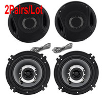 Wholesale 2Pairs Hot Sale High Quality Watts way Two Coaxial Car Audio Speakers Stereo Speaker Black TK1016