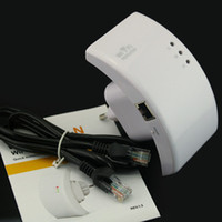 Wholesale Wireless N Wifi Repeater N Router Range Expander Mbps dBi Antennas with US EU AU Plug