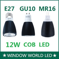 Wholesale High Power W GU10 LED E27 MR16 LED Light COB Bulb Spotlight Dimmable Warm Cool white