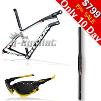 Wholesale LOOK E Post Carbon MTB Frame Carbon Mountain Bike Frame with STEM er Mountain Bicycle Frame plus gift