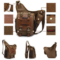 Wholesale Vintage Men Boys Canvas Single Shoulder Bag Rucksack Backpack Sling Bag