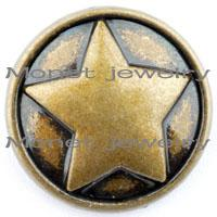 Other Men's Party A20473 hot sale star shaped noosa buttons for noosa bracelets