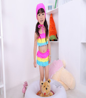 2014 Baby Beachwear Girl Bikini Kid Rainbow Tutu Dress Child...