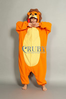 Regular Women Robe Kigurumi Pajamas All in One Pyjamas Animal suits Cosplay Costume Adult Coral Fleece Cut Lion Cartoon Animal Onesie For Adult