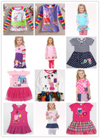 Wholesale Nova Spring Summer Tshirts Tops Dress Bowknto Polka Dots Flower Lace Gauze Stripe Peppa Pigs Tee Dresses George Pig Styles D2141