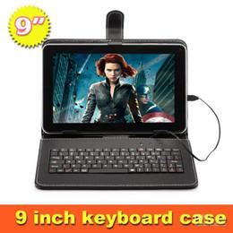 Wholesale iRULU pulgadas Tablet PC A33 Quadcore Android tabletas de GB MB Pasado tabletas Android Bundle del teclado del cuero de Bluetooth GMS