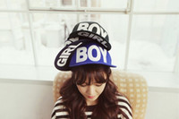 Wholesale 2014 NWT Korea Stylish Boys and Girls Letters Hip Hop Caps Popular Casual ball caps ON04