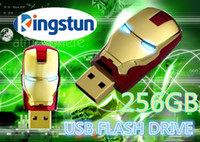 No USB 2.0 Plastic Wholesale Flawless Avengers Iron Man LED Flash 256GB USB Flash drive Memory Drive Stick Pen ThumbCar usb disk01
