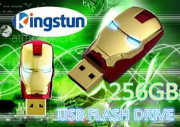 Wholesale Flawless Avengers Iron Man LED Flash GB USB Flash drive Memory Drive Stick Pen ThumbCar usb disk01