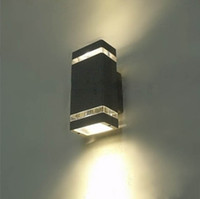 Wholesale TOP Quality LED Outdoor Wall Lamp Waterproof IP66 w High power Porch Garden Lights Staircase Lighting