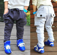 Trousers Boy Spring / Autumn Hot Sell New 2014 Baby Pants Boy Harem Pant Cool Large Pocket Long Trousers Children Clothing Boy's Spring Autumn Kids Botton C1045
