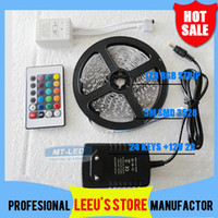 Holiday SMD 3528 Yes DHL Free shipping RGB 3528 RGB 5M 300 Leds Led light Strip Waterproof 24 Keys IR Remote Controller+12V 2A Power Supply With EU US AU UK Plug