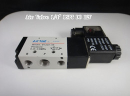 Wholesale 4V210 Ports2Position Single Solenoid Pneumatic Air Valve quot BSPT DC V