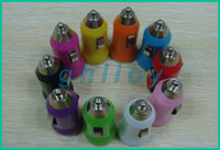 Universal Car Chargers  A+Mini USB Car Charger Adapter 12V for iPod Touch iPhone 4 4S 5 mobile phone mp3 mp4 Good Quality