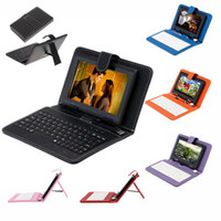 Wholesale US Stock Q8 quot Android GB Tablet PC A23 Dual Core Dual Camera MB Capacitive WIFI iRuLu Tablet Bundle quot USB Leather Keyboard Case