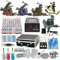 Wholesale USA Dispatch Starter Tattoo Kit set Tattoo Machine Guns Grips Needles Ink Power Equipment USwarehouse K302B01