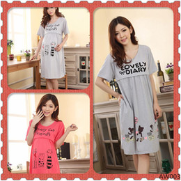 Wholesale Spring and summer Maternity clothing Maternity Dress sleepwear nightgown nursing clothes for pregnant women