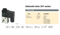 Wholesale 3V1 V DC Port Pos quot BSP Normally Closed Solenoid Air Valve Coil Led