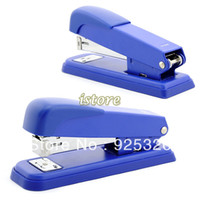 Wholesale New Office Full Strip Metal Stapler Desk Top Hand Held Stapler Bookbinding Machine Blue Straps