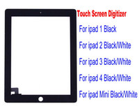 Wholesale Touch Screen Glass Panel With Digitizer Replacement Black And White For iPad ipad mini DHL ship