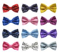 Wholesale wholesales Mens Womens Unisex Polka Dot Print Bowtie Neckwear Bow Tie style available