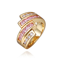 Wholesale 18K Gold Wedding Engagement Rings Jewelry Cocktail Rings Fashion Jewelry
