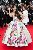 Reference Images Pattern Yes Celebrity dress Evening dress Sonam Kapoor poses Cannes Festivel Myriam fares Strapless Floor length Ball gown Custome BO3084