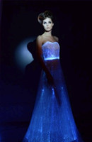Wholesale Long led wedding dresses for party events evening illuminated party ballroom floor lenght dresses bride dress patterns evening dresses