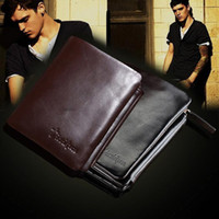 Wholesale New Men s Plaid Clutch Purse Boys Bifold Real Leather Wallets Accessories CR120 salebags