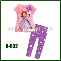 Wholesale Please Leave color and size for us new quot Caluby quot Boys Girls autumn summer Lycra Pajamas Children Clothing sets short sleeve sofia in
