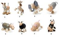 Wholesale 100 Handmade Anamalz Maple Wood Moveable Animals Toy Farm Animal Wooden Zoo Baby Educational Toys