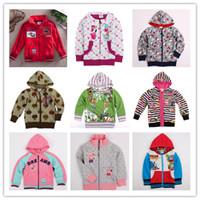 Jackets Unisex Spring / Autumn Kids Clothes Nova Spring 2014 Peppa Pig Cartoon Peach Polka Dots Long Sleeved Chevron Stripe Grid Jacket Tops Coat Cardigan 22 Styles D2143