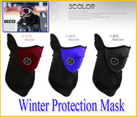 Wholesale Winter warm Neoprene Neck Protection Half Face Mask Winter Veil Guard Sport Bike Bicycle Motorcycle Ski Snowboard