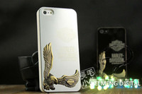 Wholesale Factory price Hot sale Luxury D Harley Eagle s wing Embossed Mirror Surface Aluminum Plastic Case Cover For Iphone