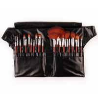 Wholesale Professional Brush Set For Salon Use Makeup Brushes amp tools With Waist Belt Leather Bag