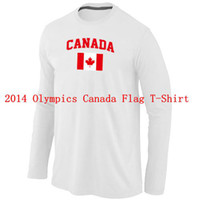 Ice Hockey Men Full 2014 Sochi Olympics Canada Flag Collection Locker Room Sleeve T-Shirt White Blank Men's Hockey Jersey Shirt New Arrival Brand Jerseys Sale