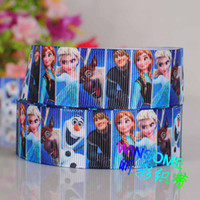 Wholesale 10yards quot mm Blue frozen princess series printed gift ribbon girl DIY gift grosgrain ribbon
