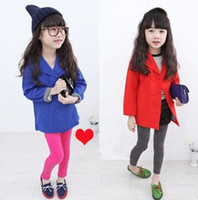 Coat Girl Spring / Autumn 2014 Spring Girls Outwear Small Suit Long Sleeve Double Breasted Trendy Coat Children Clothing Temperament Dany Kid Girl Fancy Clothes C1053