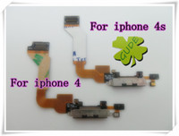 Wholesale For IPhone G S GS Charging Dock Port Flex Cable Ribbon Flat Mic Microphone Flaxy Black color White color