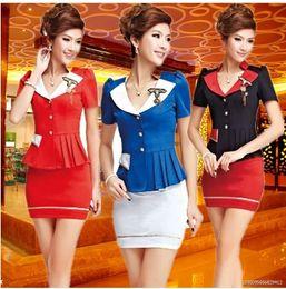 Wholesale Stewardess uniforms professional package Miss ktv DJ Night Ladies Garment Technologist overalls foot sauna