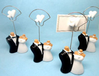 Wholesale wedding favor Joined at the Hip Bride and Groom Place Card Holder