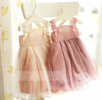 Wholesale Vintage Princess Girls Kids Summer New Dresses Suspender Lace Tiered Veil Ball Gown Dress Ballet Tutu Dress Pretty Party Dressy
