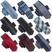 Wholesale 2014 Hot new fashion quality mens skinny ties men striped neckties man slim red tie cm Korean styles APS00009