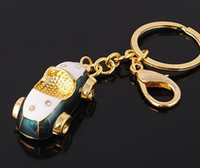 best new sports cars - 10pcs NEW Fashion sports car style shine Stainless alloy steel key chain high quality keychains best gift