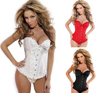 Wholesale Sexy Corset top Bustier G String Garter lingerie new style hot sell color