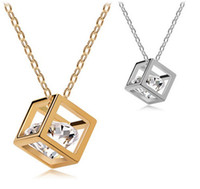 Fashion Eight hearts and eight arrows zircon square Necklace...